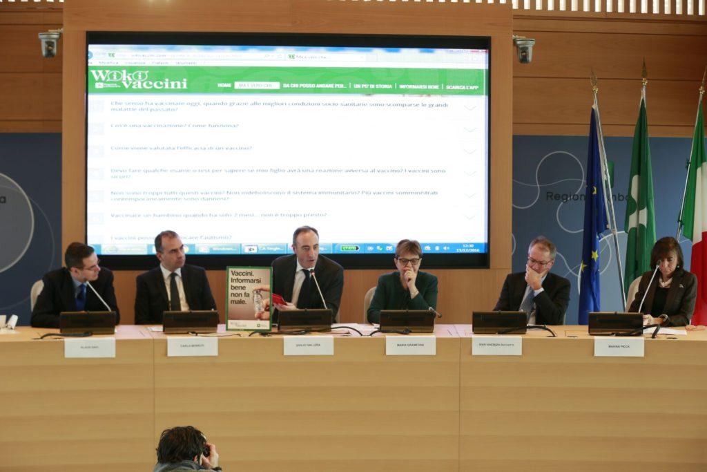 L'assessore al Welfare della Regione Lombardia, Giulio Gallera, alla presentazione della campagna