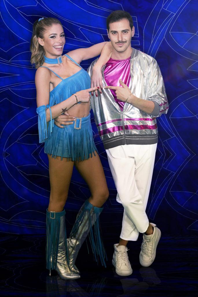 Chiara Nasti con Roberto De Rosa, suo amico e partner a Dance Dance Dance