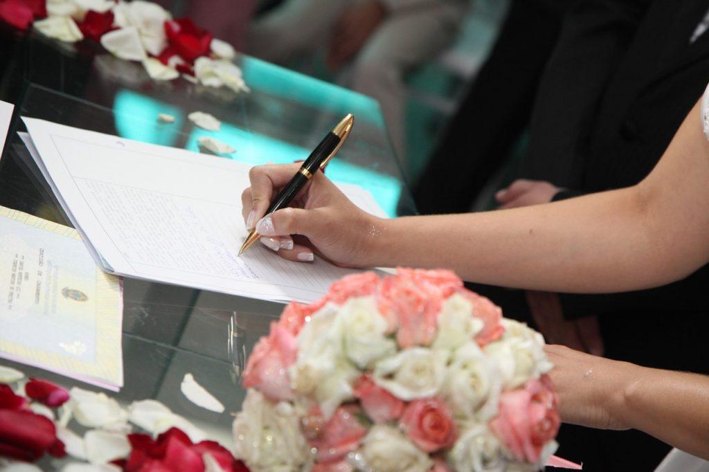 firma degli sposi atto matrimonio