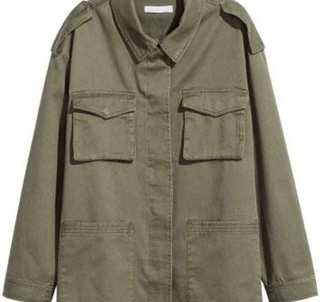 H&M giacca militare con fascette sulle spalle