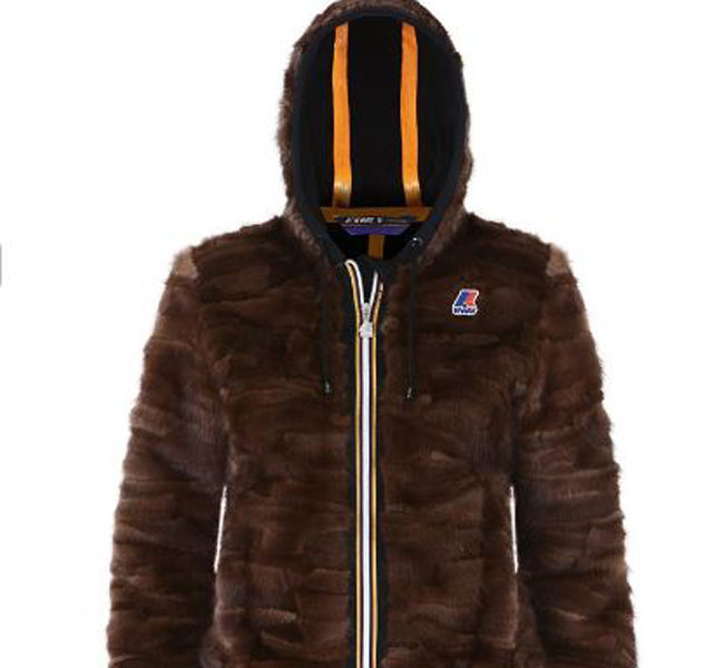 Kway giacca pelliccia con cappuccio