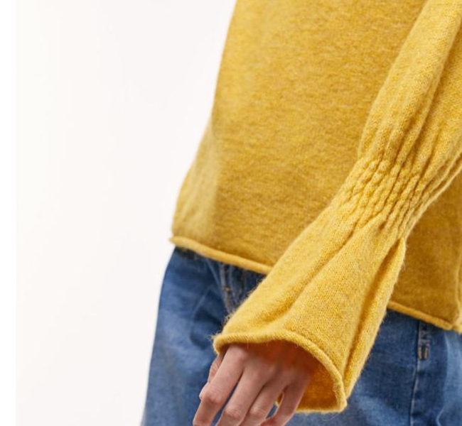 Stradivarius maglia gialla con maniche over