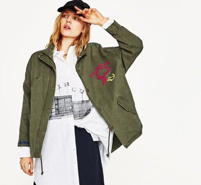 Zara giacca militare con borchie e ricami