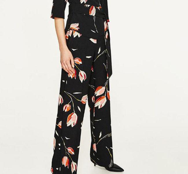 Zara pantalone e camicia con fiori