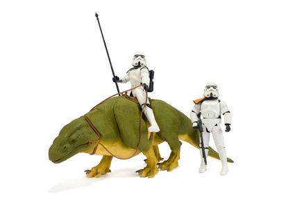 """Dewback & Sandtrooper 12"""" Doll 2000"""