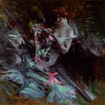 Giovanni Boldini Il vestito da ballo (signora che cuce; interno con giovane intenta a cucire) 1904 ca. Olio su tavola, 27x35 cm Collezioni d