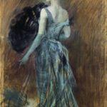 Giovanni Boldini Signora bionda in abito da sera 1889 ca. Pastello su carta incollato su tela, 220x150cm Collezioni d