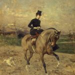 Giovanni Boldini L'amazzone (Alice Regnault a cavallo) 1878 Olio su tavola, 69x59 cm Galleria d