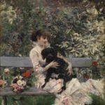 Giovanni Boldini L'amico fedele 1872 ca. Olio su tavola, 26x14 cm Collezione privata