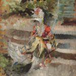 Giovanni Boldini Signora con ombrellino (o parasole) 1876 ca. Olio su tavola, 35,4x23,5 cm Collezione Palazzo Foresti, Carpi