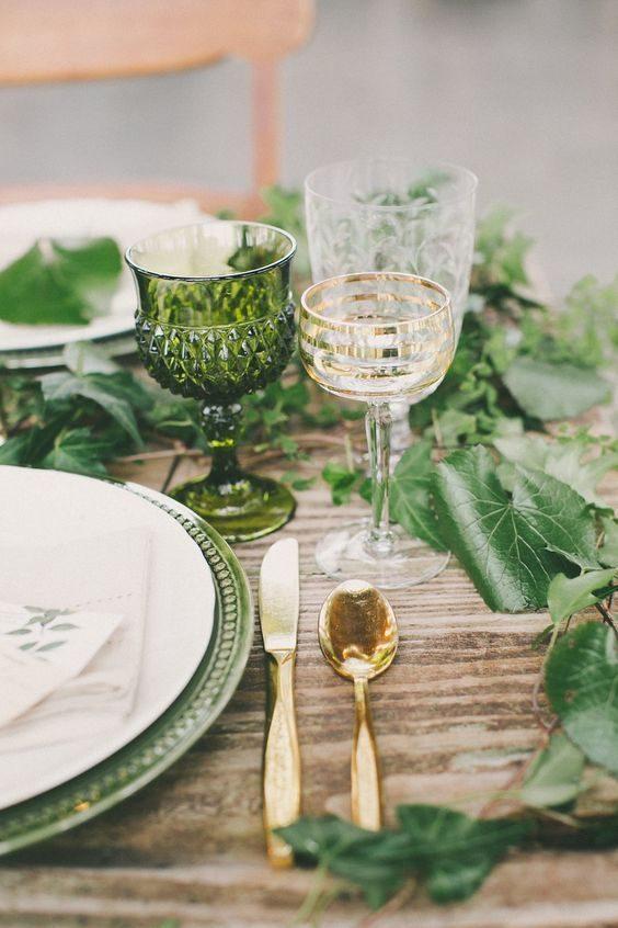 Allestimento tavolo in stile greenery, Pinterest Himisspuff
