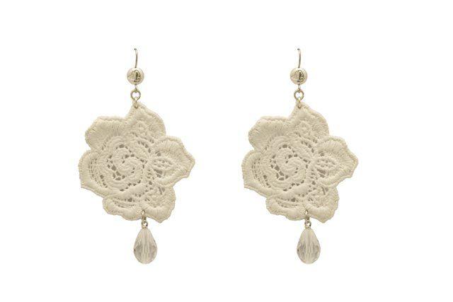 orecchini in pizzo design rose di tità bijoux