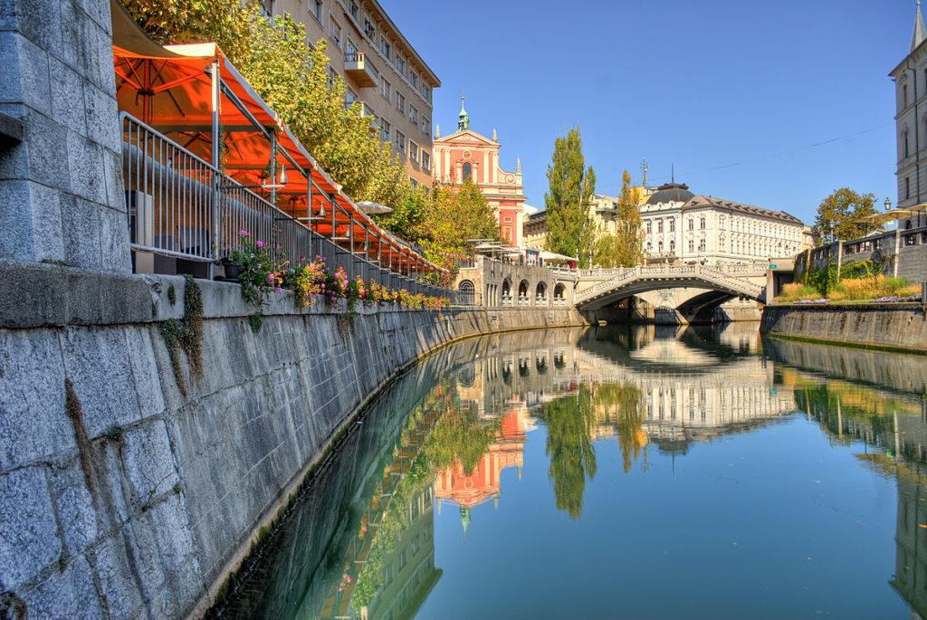 Il fiume Ljubljanica.