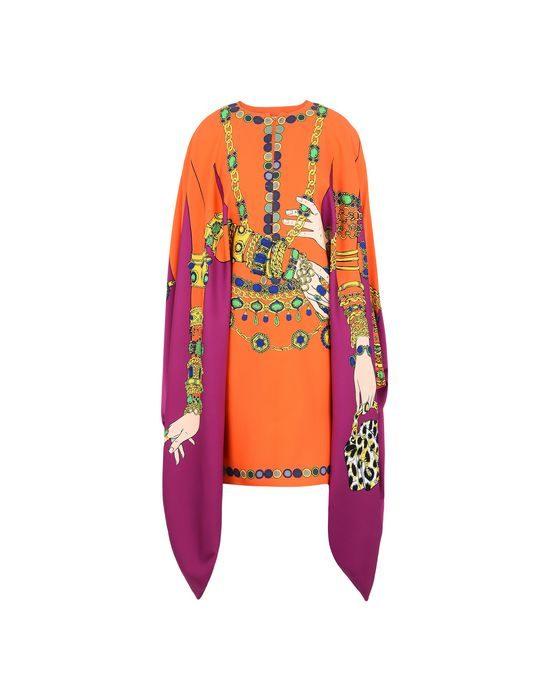 Abito corto in raso modello kimono Moschino