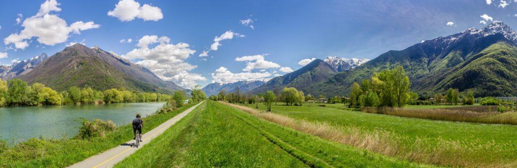 Uno dei paesaggi mozzafiato della Valtellina