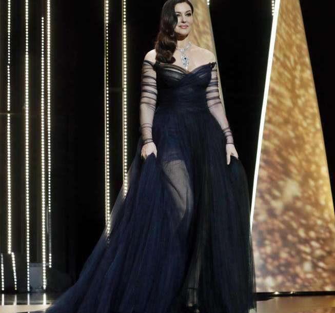 Monica Bellucci in abito Dior