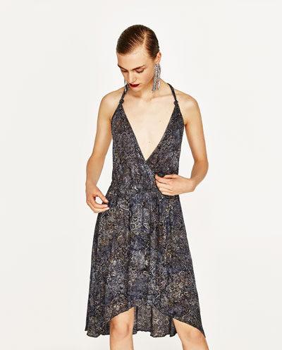Zara vestito con stampa batik