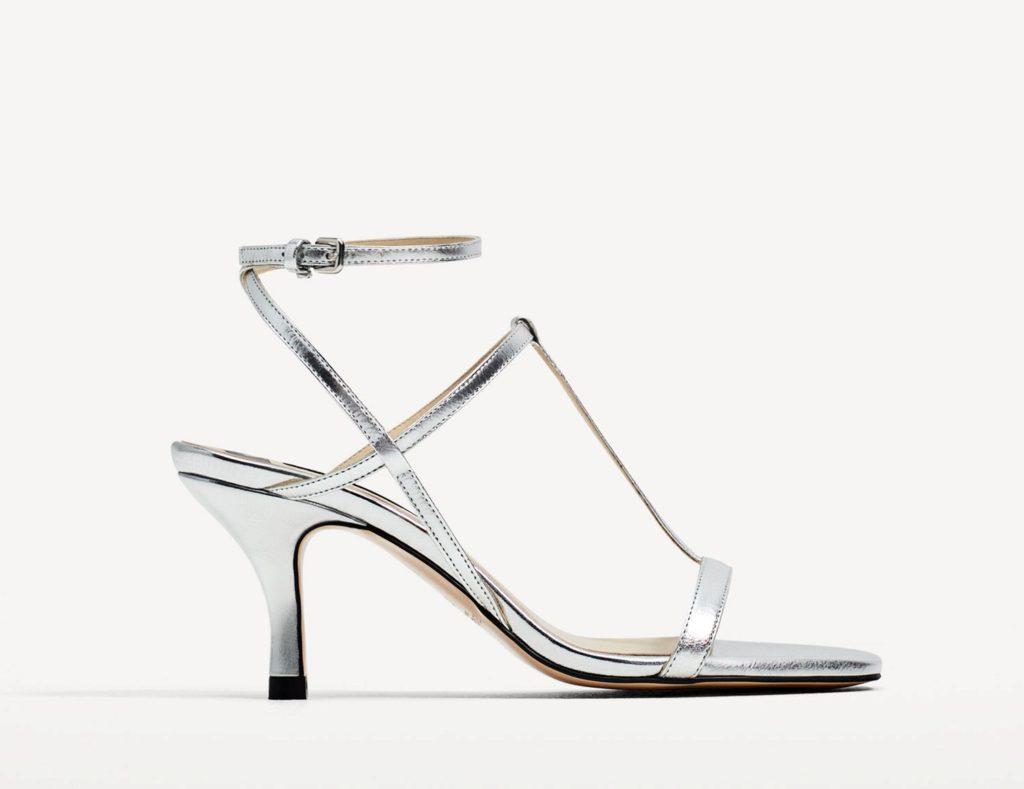 Zara sandalo T in argento