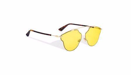 Dior occhiale giallo modello pop.
