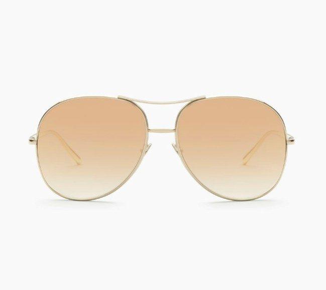 Chloè occhiale aviator in metallo