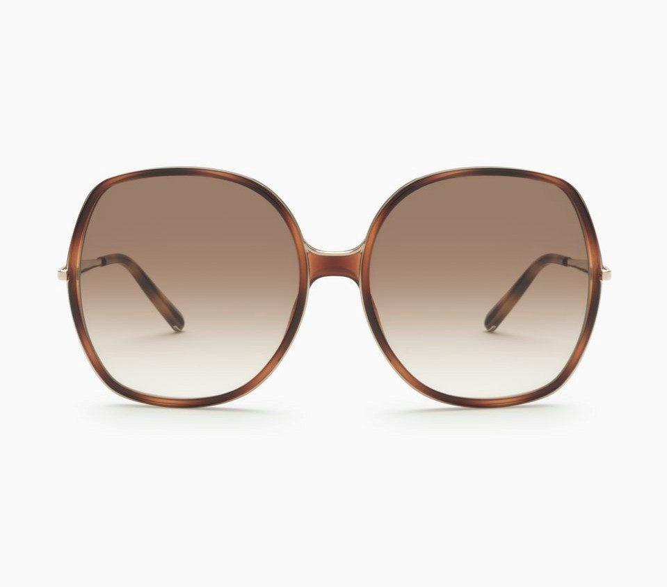 Chloè occhiali da sole leggermente squadrati in resina di nylon e metallo