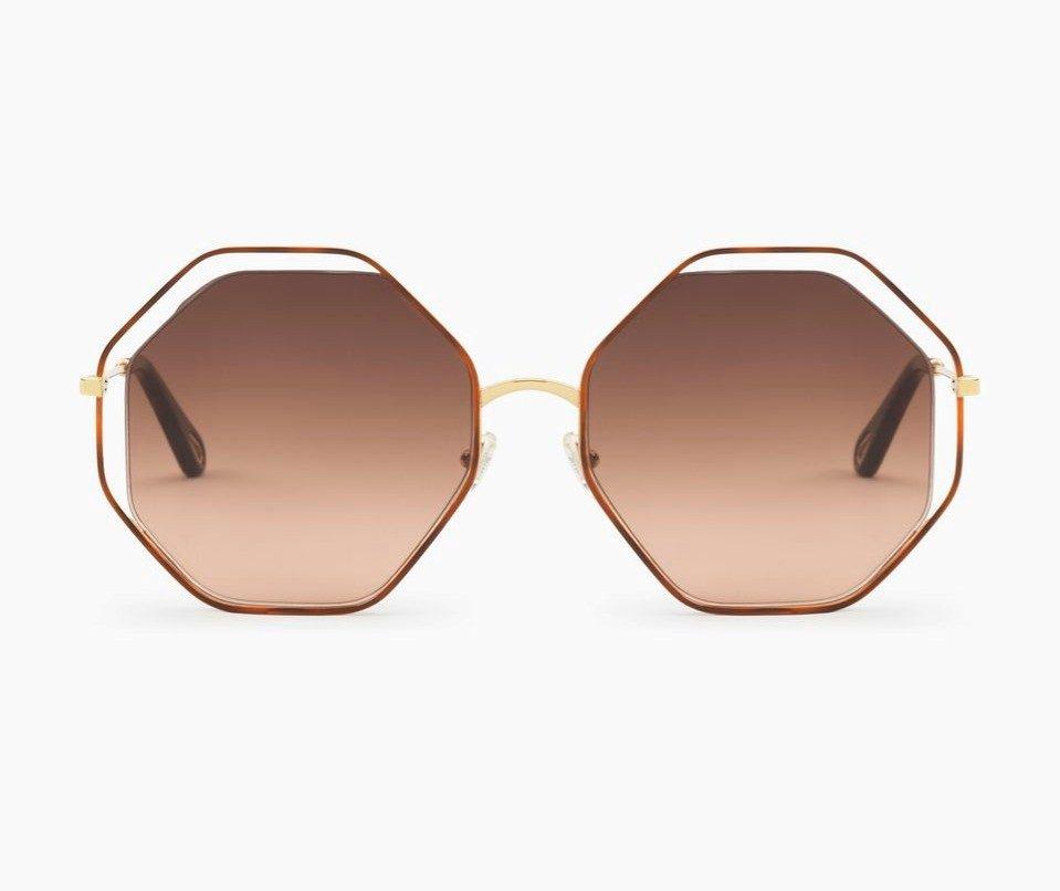 Chloè occhiale da sole modello Poppy con lente ottagonale