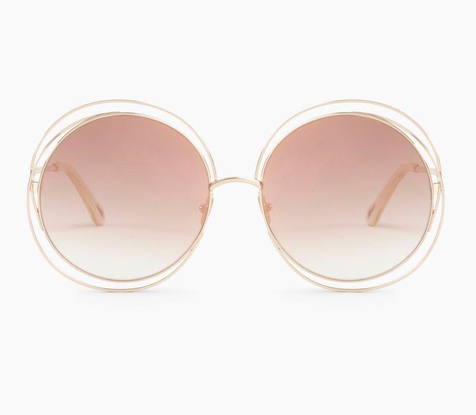 Chloè occhiale da sole modello Carlina con lente rosa