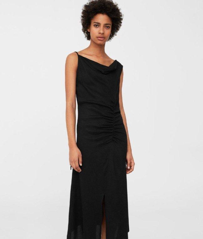 Mango vestito nero