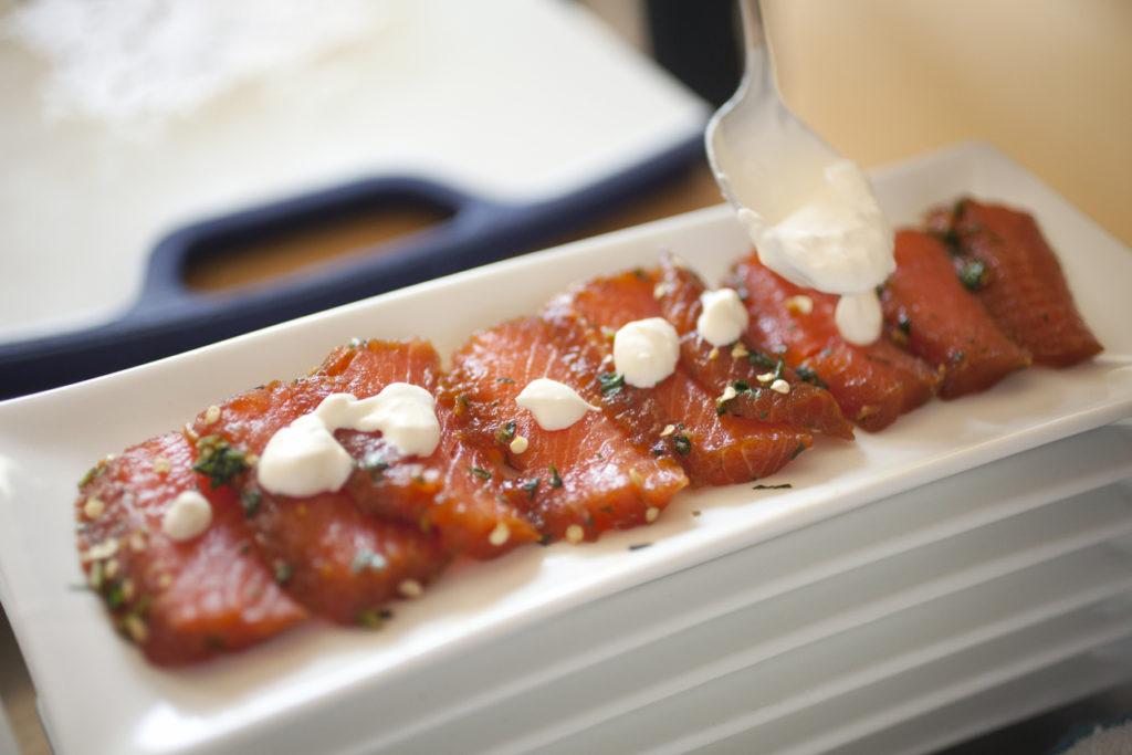 Antipasto di salmone marinato