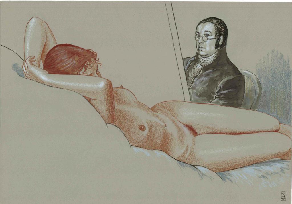 Milo Manara a Palazzo Pallavicini. Goya. Sezione Illustrazioni (credits Milo Manara 2017)