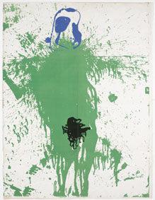 Joan Miró Sin título / Untitled, 1976 [ca] Lithographic proof, 160x121,5 cm © Successió Miró by SIAE 2017 Archive Fundació Pilar i Joan Miró a Mallorca © Joan Ramón Bonet & David Bonet