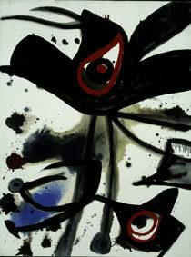 Joan Miró Oiseaux, 1973 Oil and acrylic on canvas, 115,5x88,5 cm © Successió Miró by SIAE 2017 Archive Fundació Pilar i Joan Miró a Mallorca © Joan Ramón Bonet & David Bonet