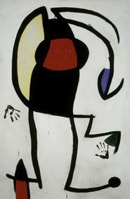 Joan Miró Femme dans la rue, 1973 Oil on canvas, 195x130 cm © Successió Miró by SIAE 2017 Archive Fundació Pilar i Joan Miró a Mallorca © Joan Ramón Bonet & David Bonet