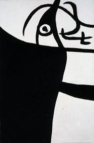 Joan Miró Sin título / Untitled, 1973 [ant] Oil on canvas, 195x130,5 cm © Successió Miró by SIAE 2017 Archive Fundació Pilar i Joan Miró a Mallorca © Joan Ramón Bonet & David Bonet