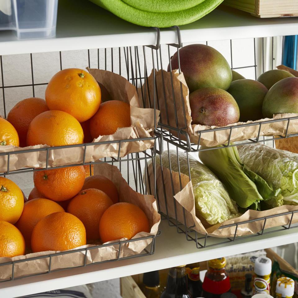 La veranda è il posto ideale in cui tenere le scorte di cibo.