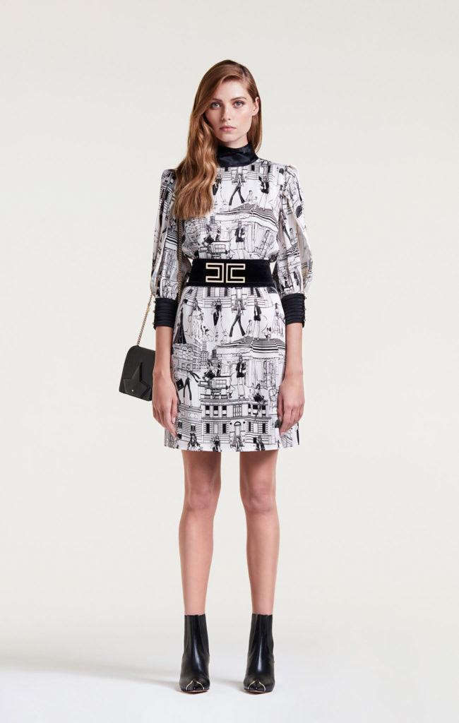 Minidress con stampe by Elisabetta Franchi.