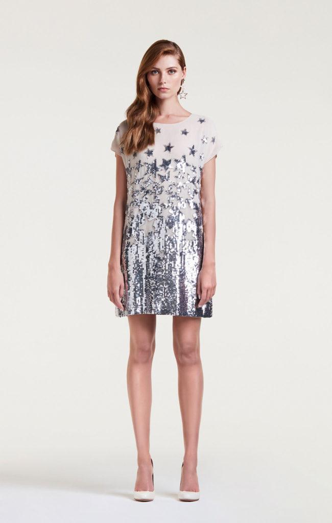 Vestito corto con stelle by Elisabetta Franchi.