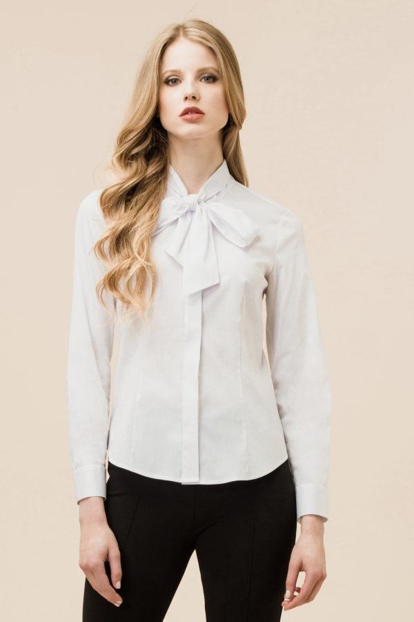 Luisa Spagnoli camicia Laverna bianca con fiocco.