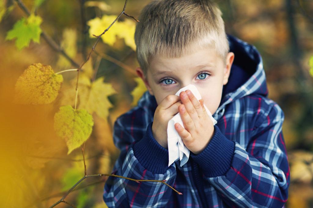 La congestione nasale è tipica dell'autunno.