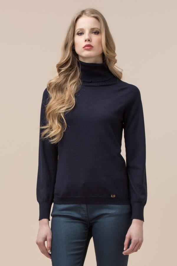 Luisa Spagnoli pullover a collo alto in lana.