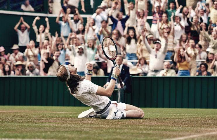 Bjorn Borg (Sverrir Gudnason) la finale di Wimbledon 1980.