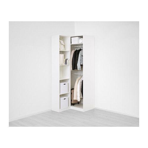 Guardaroba Ikea modello Pax angolare bianco attrezzato.