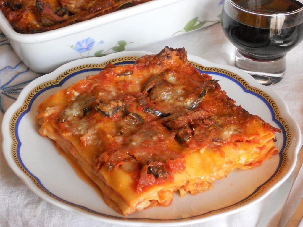 Lasagne con funghi e parmigiano
