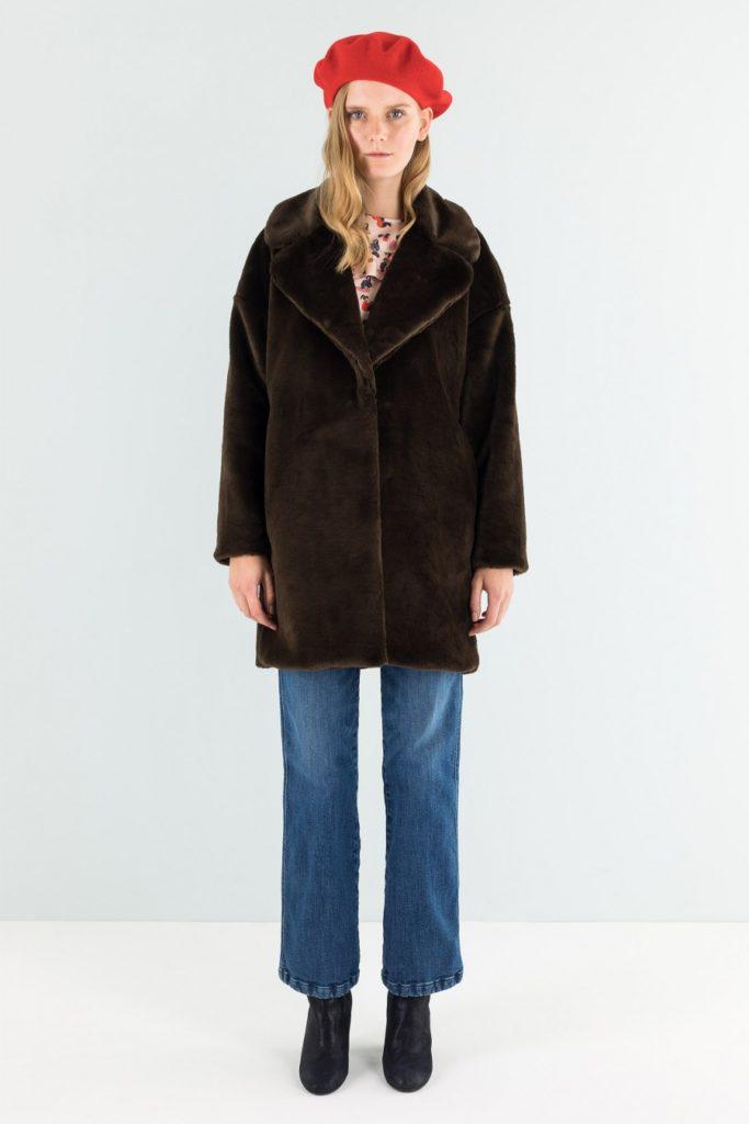 Lazzari pelliccia donna 2018 color marrone scuro.
