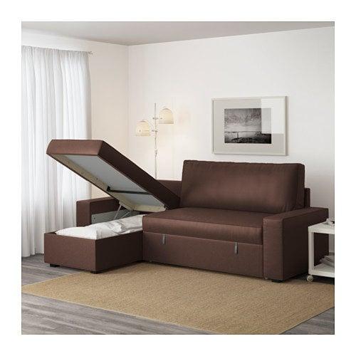 Divano letto con chaise-longue modello Vilasund.