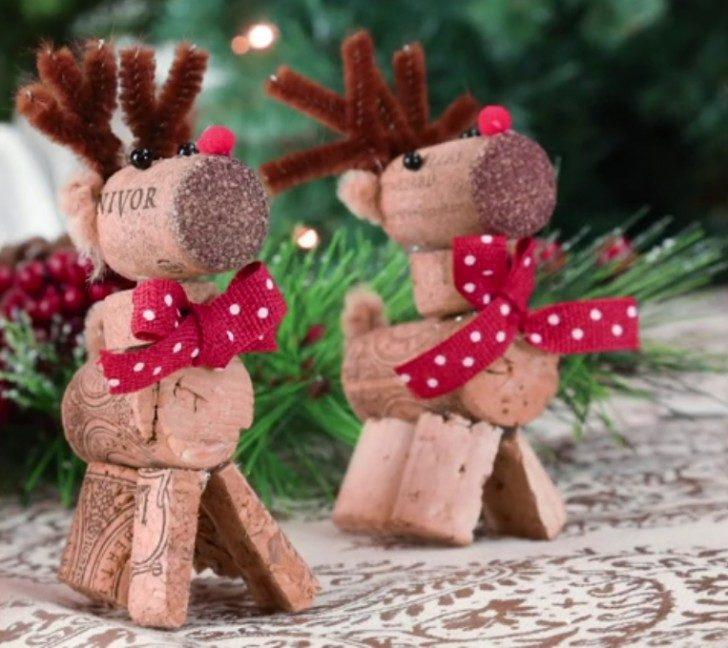 Addobbi Natalizi Con Tappi Di Sughero.Decorazioni Albero Di Natale Con I Tappi Di Sughero Unadonna