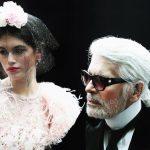 Karl Lagerfeld alla sfilata Chanel Haute Couture Primavera/Estate 2018