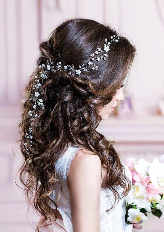 Punti luce per capelli: swarovski, blu, a spirale