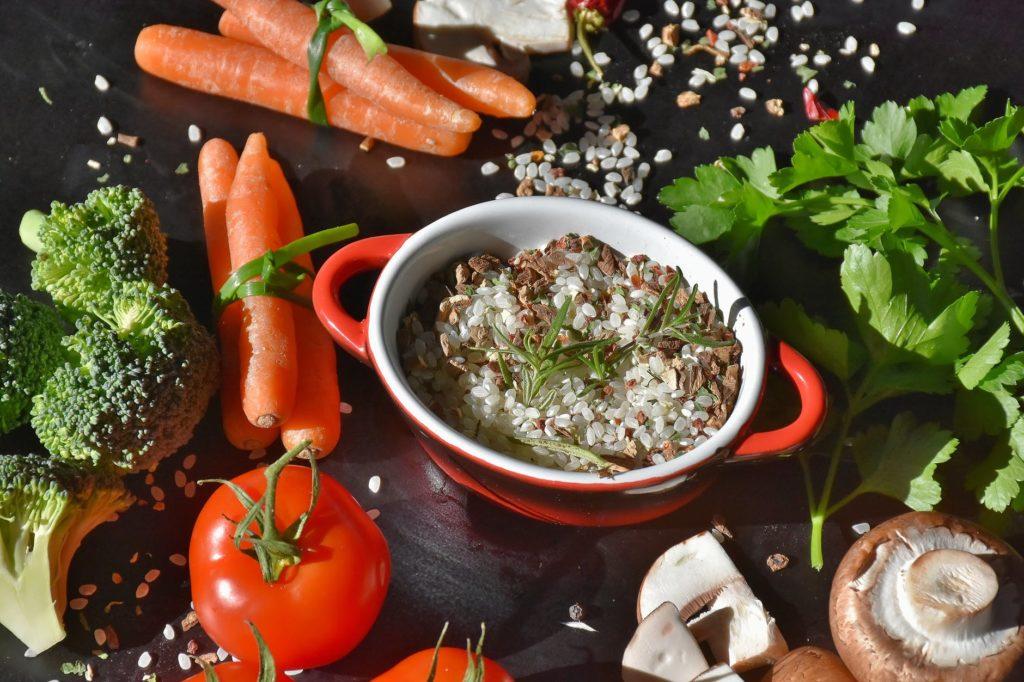 I pasti della dieta mediterranea.