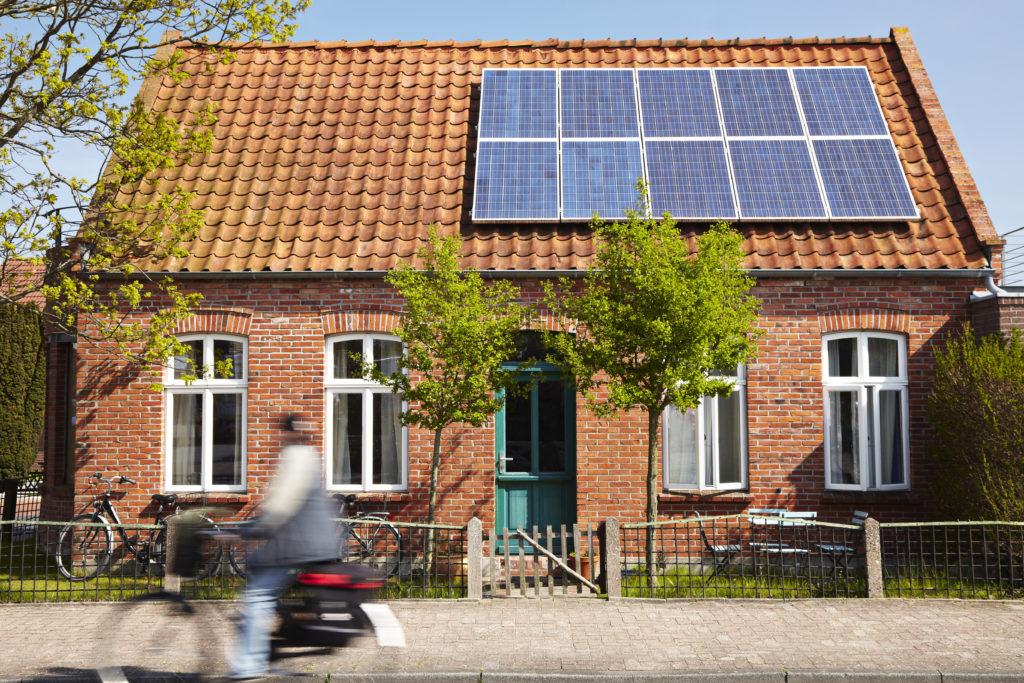 Pannelli solari su tetto